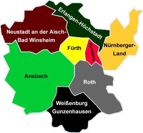 Mittelfranken Karte.Radwege In Mittelfranken